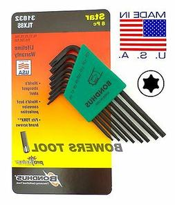 Set 8 Star L-wrenches - Long Arm Style - T6-T25