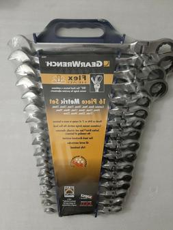 Gearwrench Set 16Pc Metric Flex