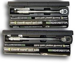 Set of 2 1/2 and 3/8 Drive Click Type Torque Wrench Snap Soc