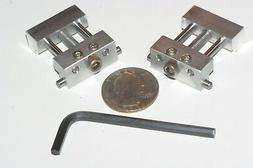 SET OF 2 ADJUSTABLE LOW PROFILE VISE STOPS WITH WRENCHES MAC