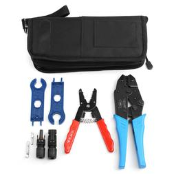 Set of MC4 Connector & Wrenches Stripper Crimping Tool Kit E