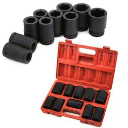 "XtremepowerUS 10pc 1"" Shallow Impact Cr-V Socket Set - MM"