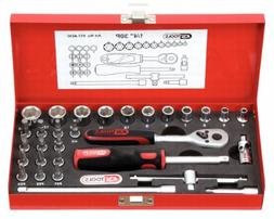 """SK Hand Tool 4042146118122 1/4"""" Socket Set, 30 Piece, Clear"""