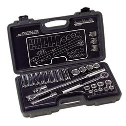 26 Piece Standard Socket Sets - set skt 26 pc 1/2 dr 6pt std