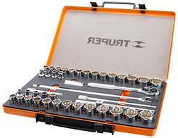 Truper Socket Wrench Set  - 42 Pcs