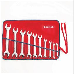 Stanley Proto J30000A 10 Piece Metric Open End Wrench Set