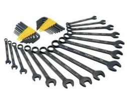 STANLEY STMT82752 Black Chrome Wrench and Hex Key Set SAE MM