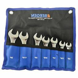 "Stubby Spanners Wrench Set SAE Imperial 7pc 3/8"" - 3/4"" By B"