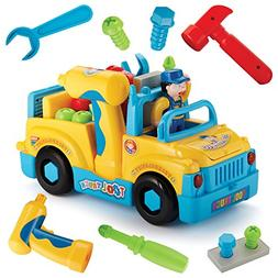 Take Apart Toy Truck Assembly Kit - Battery Operated Bump an