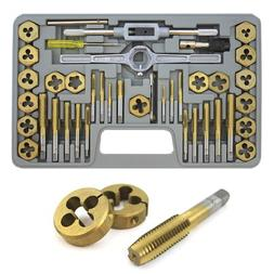 XtremepowerUS 40-Piece Titanium Coated Tap & Hexagon Die Set