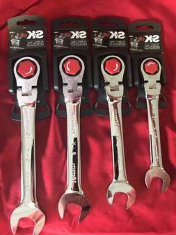 SK Tools New 4pc Metric Locking G-Pro Flex Ratcheting Wrench