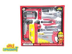 Little Treasures Toy Tools Playset for Kids, Complete with S