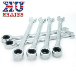 UK Open-End Combination Wrench Set Ratchet Gear Spanner Craf