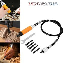 US Wood Chisel Carving Knives Wrench Flexible Shaft Hand Set