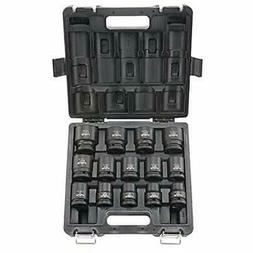 Blackhawk By Proto UW-1615S 6-Point Drive Impact Socket Set,