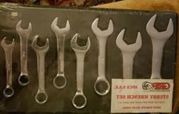 GRIP VINTAGE 8 PC. SAE Stubby Combination 12pt Wrench Set  N