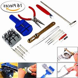Watch Jewelry Repair Tool Kit, TFSeven Professional 16Pcs Re
