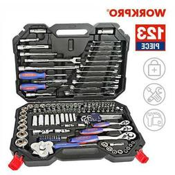 WORKPRO Tool Set Hand Tools for Car Repair Ratchet Spanner W