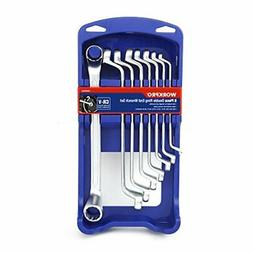 WORKPRO Offset Box End Wrench Set 8-piece Metric 6-22 mm Cr-