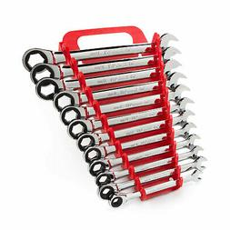 TEKTON WRN53170 Ratcheting Combination Wrench Set with Store
